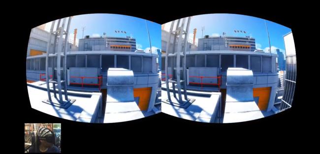 Modded Mirror's Edge on Oculus Rift