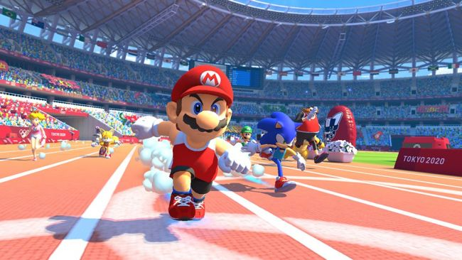 Watch us take part in Mario & Sonic's 2020 Olympics