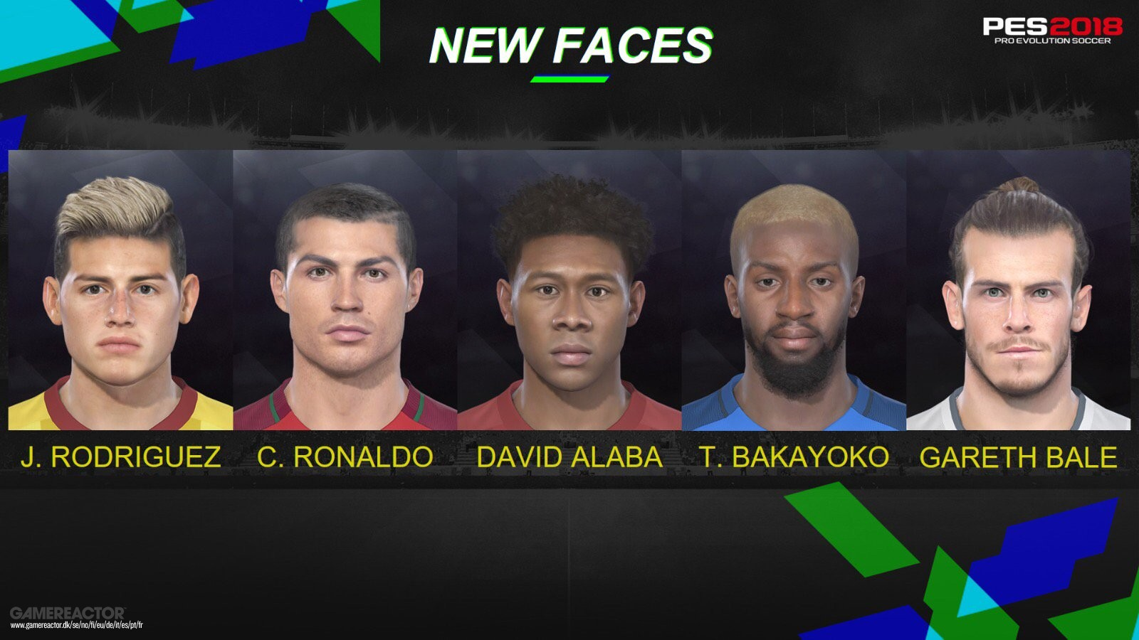 Konami releases PES 2018 faces of Ronaldo, Bale, and more