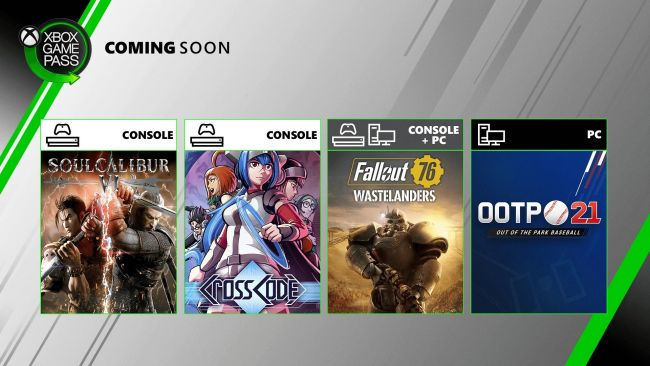 Fallout 76 and Soul Calibur VI headed for Xbox Game Pass