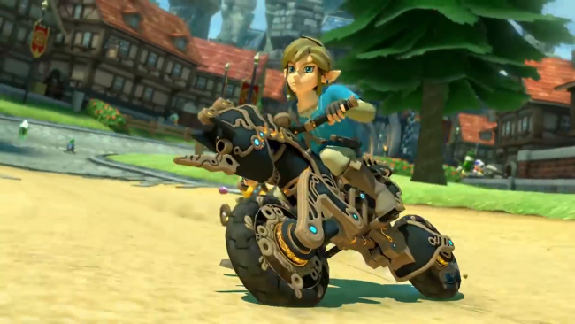 Breath of the Wild lands on Mario Kart 8 on Switch