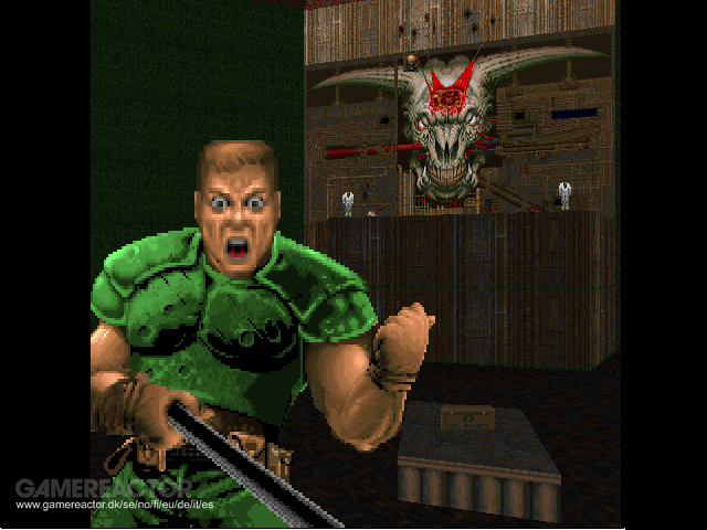 Playing Doom armed with a selfie stick