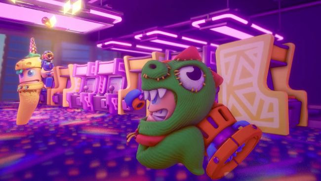 32 worms fight real-time battles in Worms Rumble