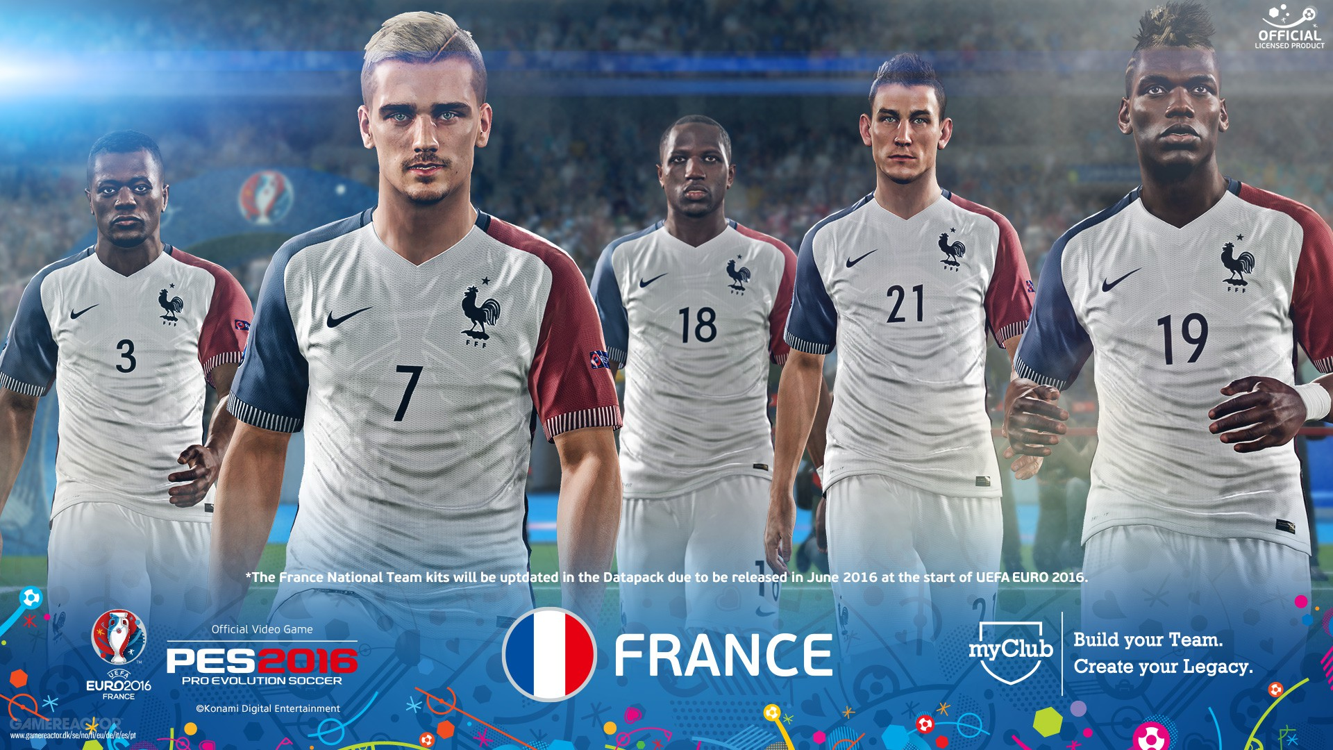 98064a89914 The UEFA EURO 2016 version of PES 2016 is out now. Enlarge picture The UEFA  EURO 2016 version of PES ...
