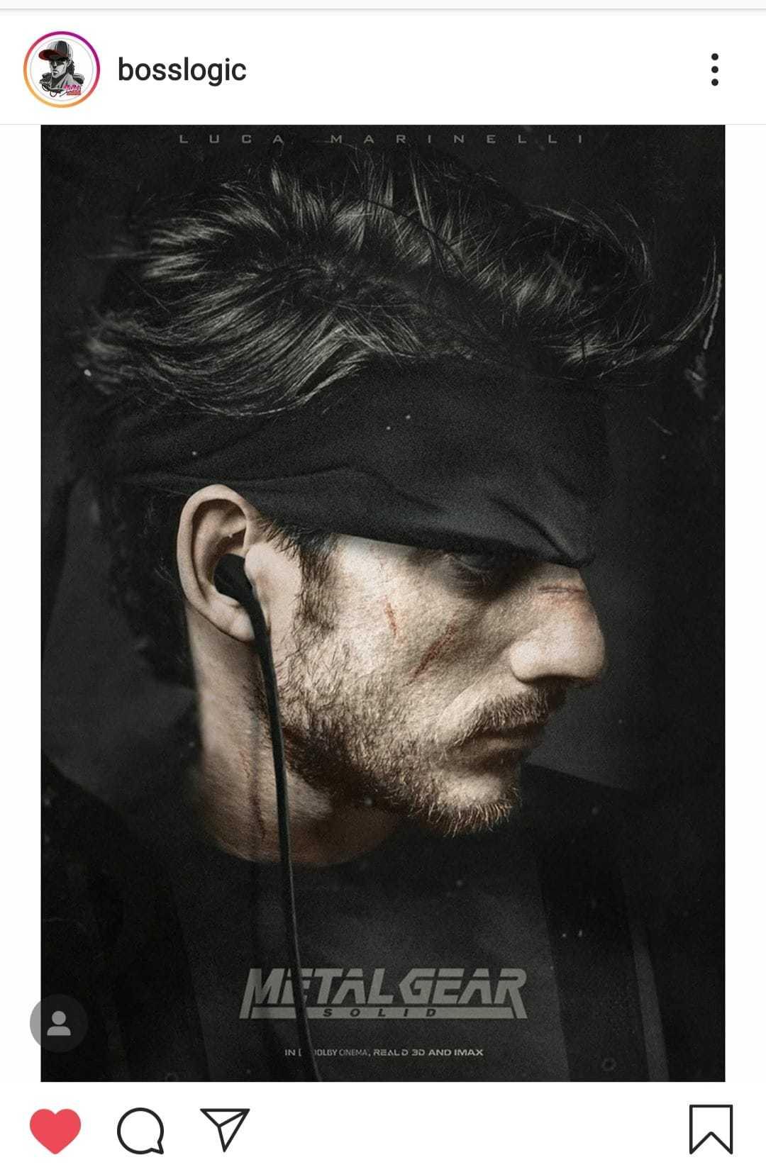 "Hideo Kojima on actor Luca Marinelli: ""spitting image"" of Snake ..."