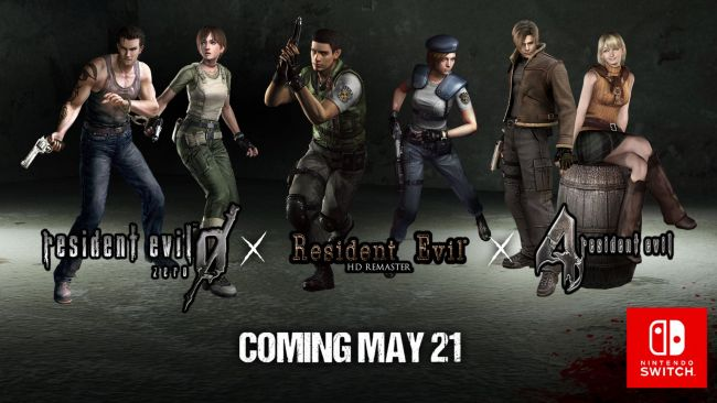 Resident Evil 0, 1, and 4 heading to Switch this summer