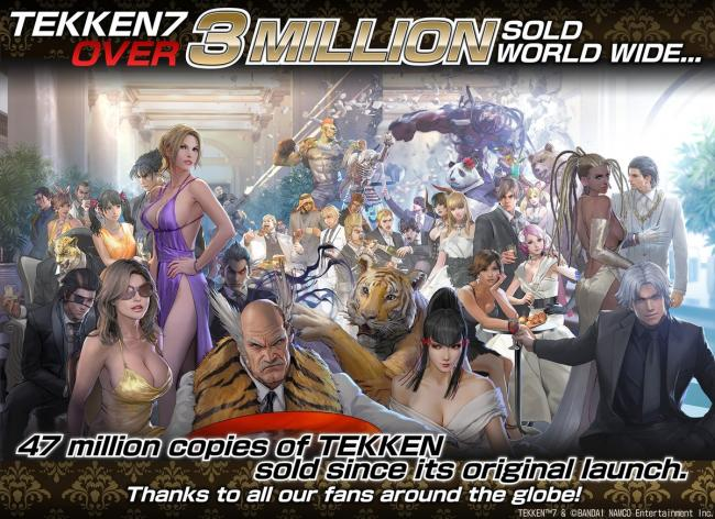Tekken 7 has sold over 3 million copies