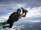 Limited Xbox One X delivered by skydiving Pastrana