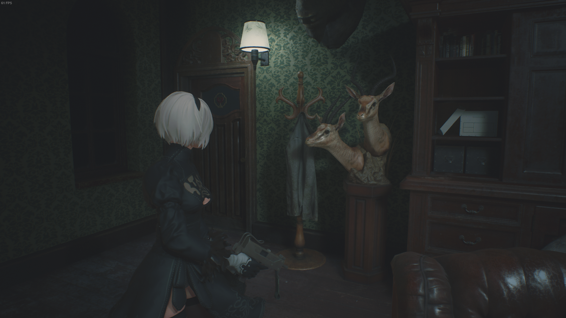 Resident Evil 2 mod lets you play as 2B from Nier: Automata