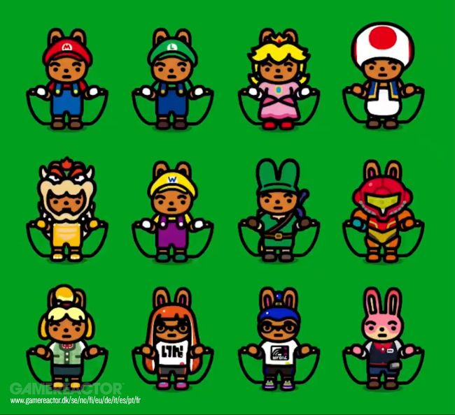 Jump Rope Challenge updated with Nintendo costumes