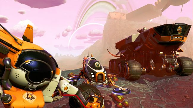 Use Mechs to harvest and survive No Man's Sky