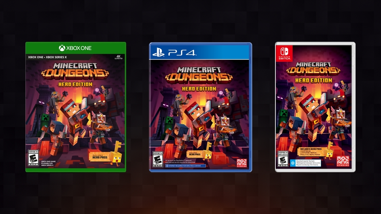 Minecraft Dungeons gets a physical edition on consoles