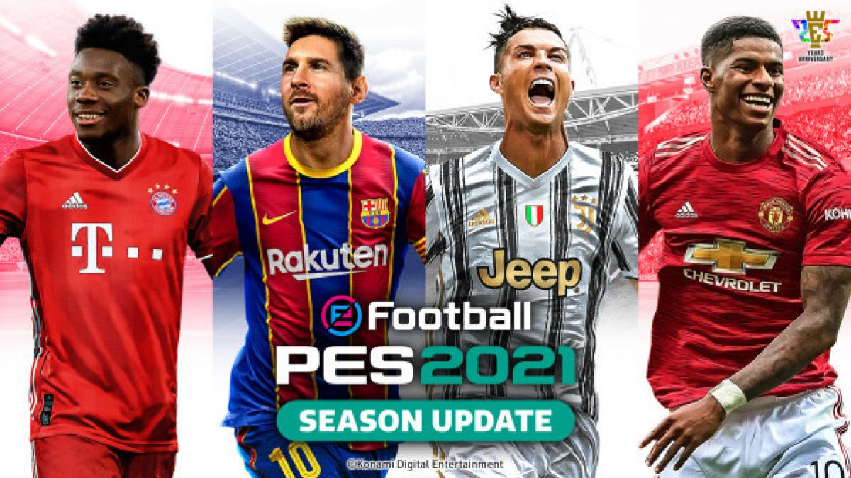 messi and ronaldo team up for the cover of efootball pes 2021 cover of efootball pes 2021