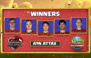 ATN Attax are your Clash of Clans World Champions