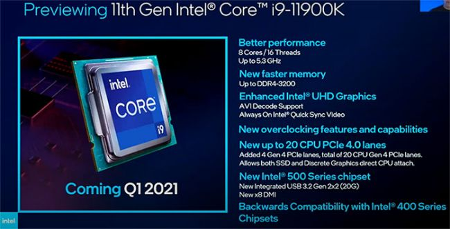 Complete Intel 11th gen CPU prices in Europe leaked