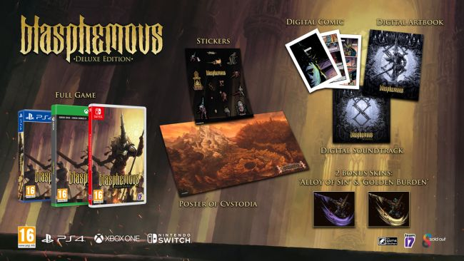 Blasphemous Deluxe Edition is getting a physical release on June 29