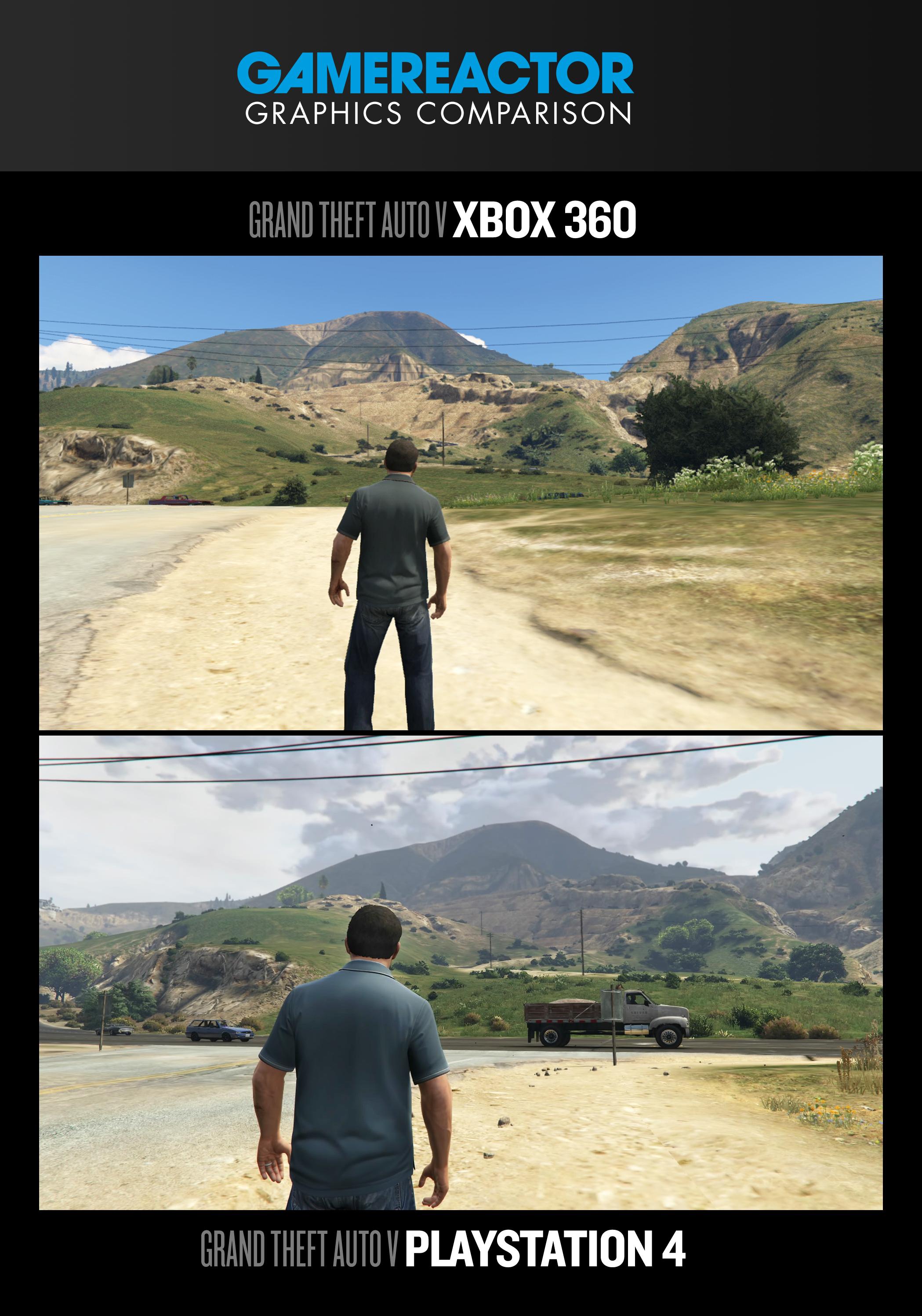 Gtav Graphics Duel Xbox 360 Vs Ps4