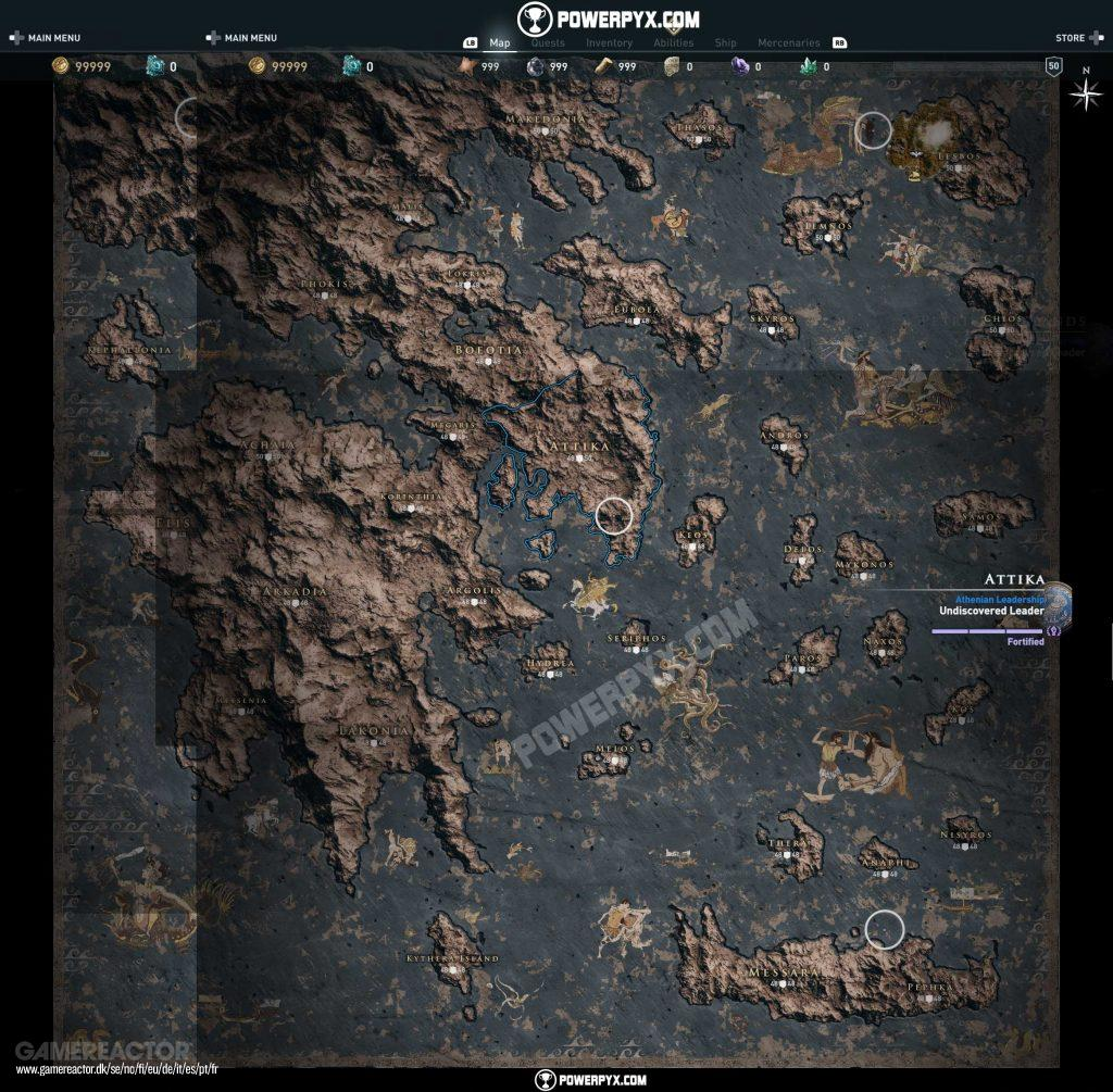 Pictures Of Full Assassin S Creed Odyssey Map Revealed 3 3
