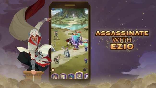 Ezio is going AFK in new mobile crossover with AFK Arena