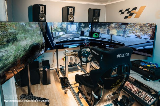 Check out Gamereactor's new racing-sim rig