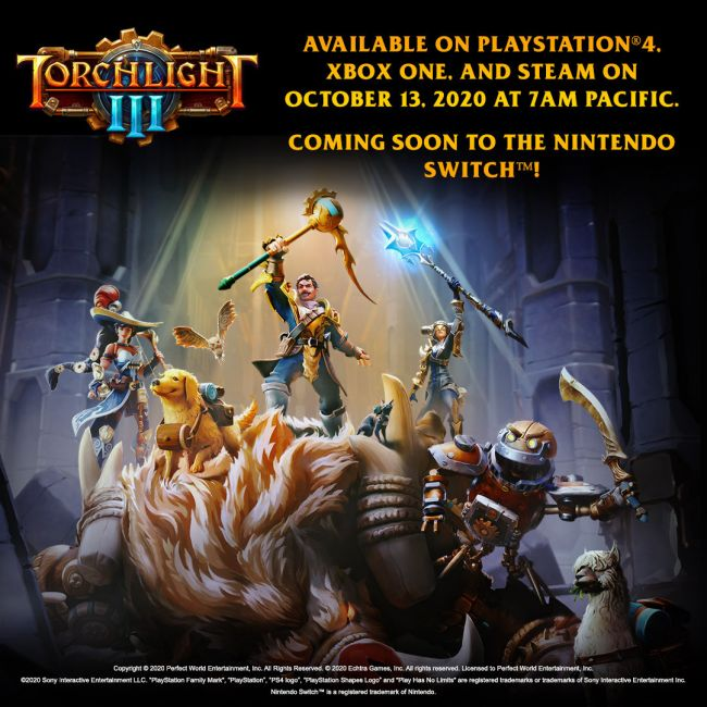 Torchlight III official release date confirmed for PC, PS4, and Xbox One