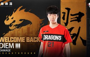 Shanghai Dragons re-sign Diem