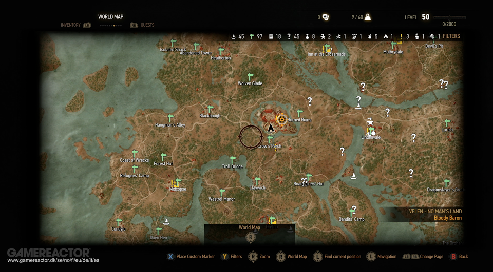 The size of the witcher 3s world revealed the witcher 3 wild the size of the witcher 3s world revealed the witcher 3 wild hunt gamereactor gumiabroncs Image collections