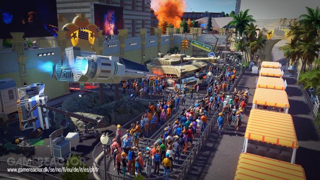 Planet Coaster Studios Pack adds Hollywood themed rides