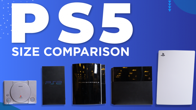 Here's how the PS5 sizes up to previous PlayStation consoles