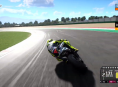 Valentino Rossi takes his first lap in MotoGP 20