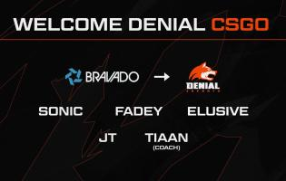 Denial Esports signs Bravado squad for CSGO