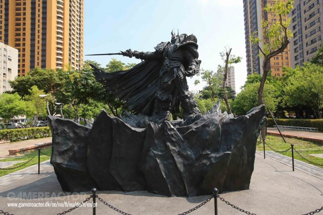 Blizzard unveils Lich King statue in Taiwan