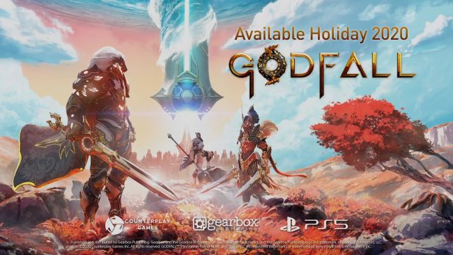 Here's the PlayStation 5 box art for Godfall