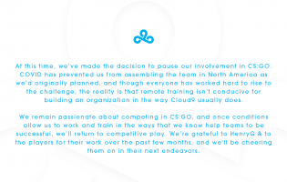 Cloud9 pauses its involvement in CS:GO