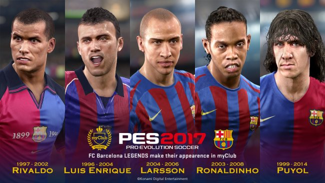 PES 2017's Barcelona Legends given a new trailer - Pro