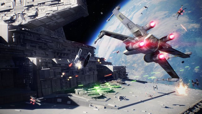 Space battles shown off in Star Wars Battlefront II trailer