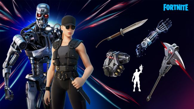 The Terminator T-800 and Sarah Connor are now in Fortnite