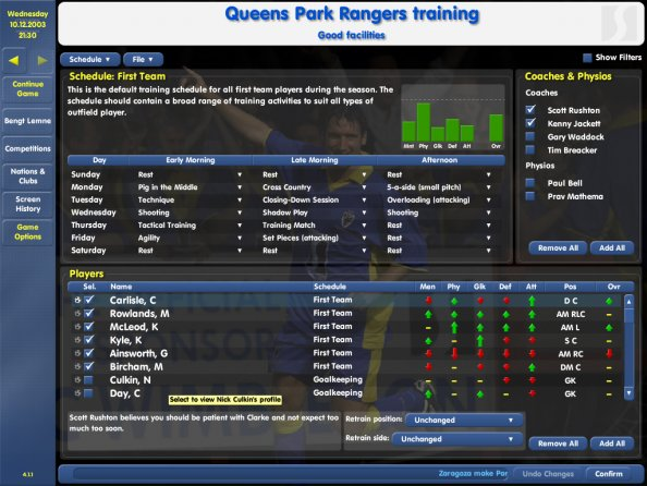 Championship Manager 03 04 Training Schedules - liftfasr