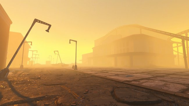 A modder is creating the Fallout: New Vegas map in Fallout 4