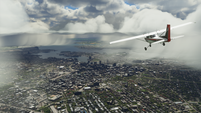 Microsoft Flight Simulator players generally took a trip home on first flight
