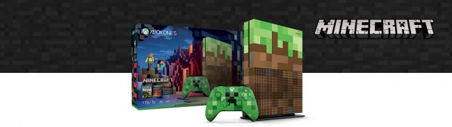 Here's the limited edition Minecraft Xbox One S