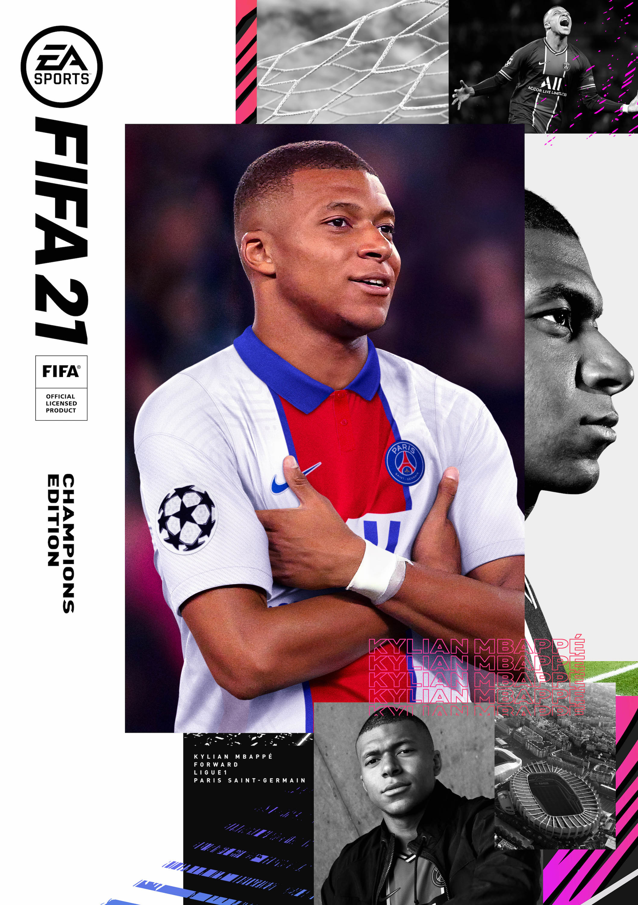 Mbappè is the cover star of FIFA 21
