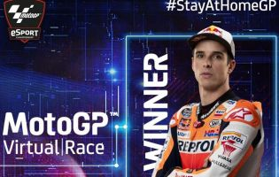 Alex Marquez wins the first MotoGP Virtual Race