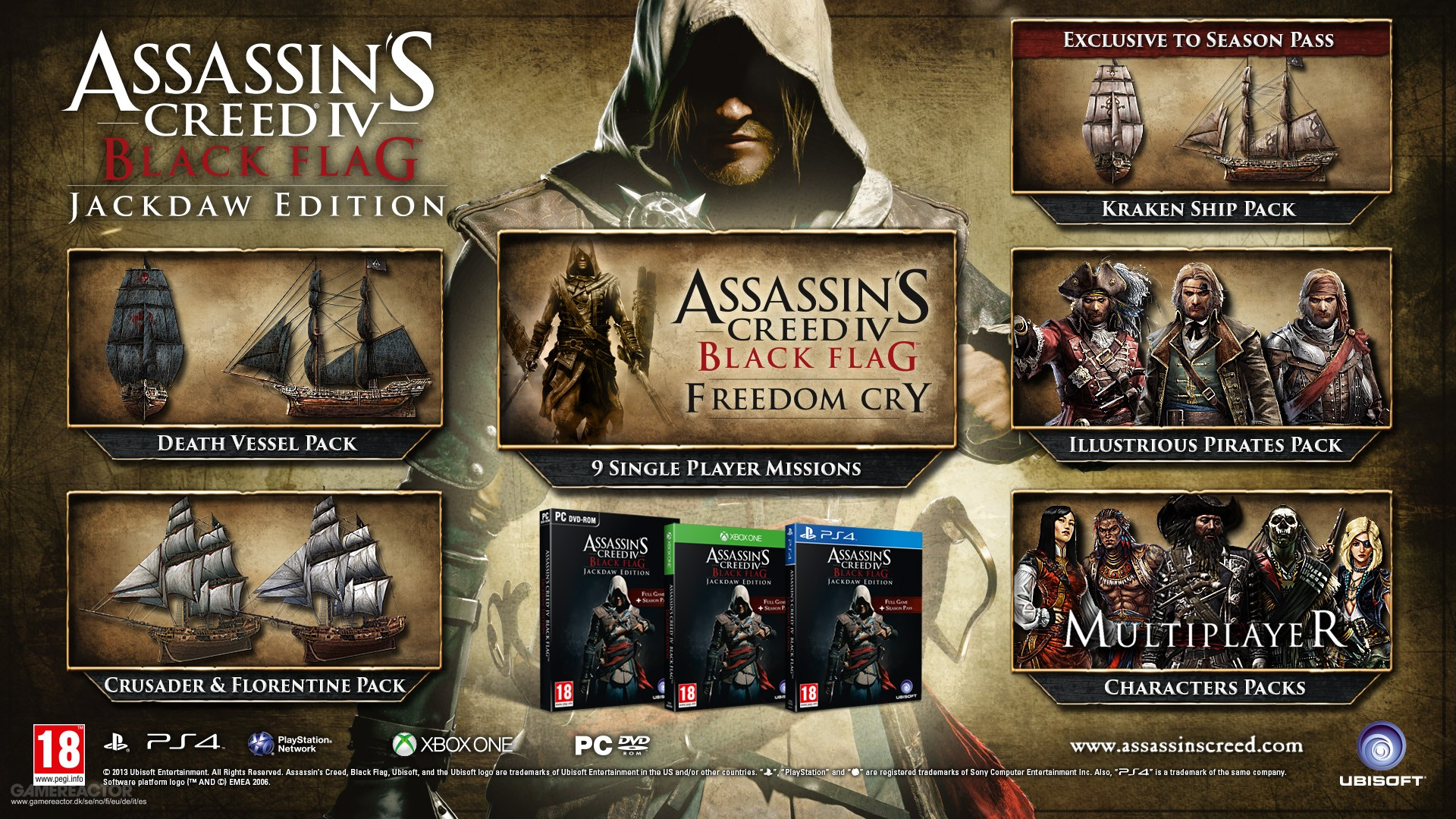 Assassin S Creed Iv Black Flag Gets Jackdaw Edition