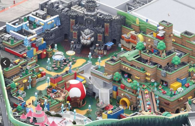 Here is a picture of Nintendo's new theme park