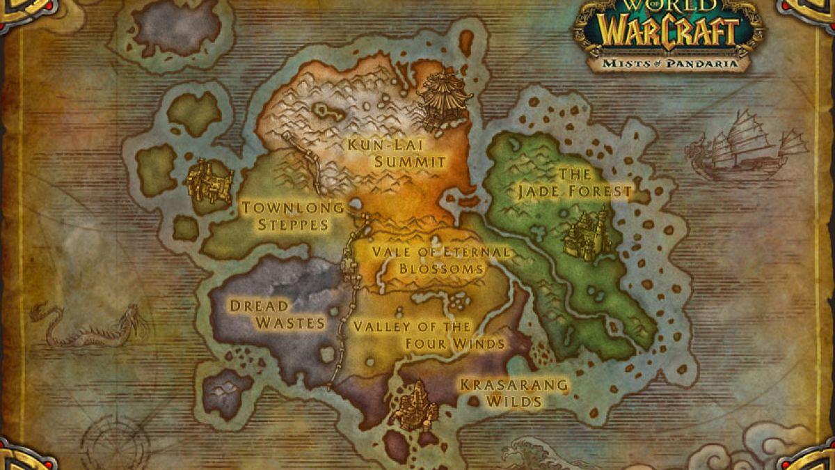 Pandaria Mapped Up World Of Warcraft Mists Of Pandaria