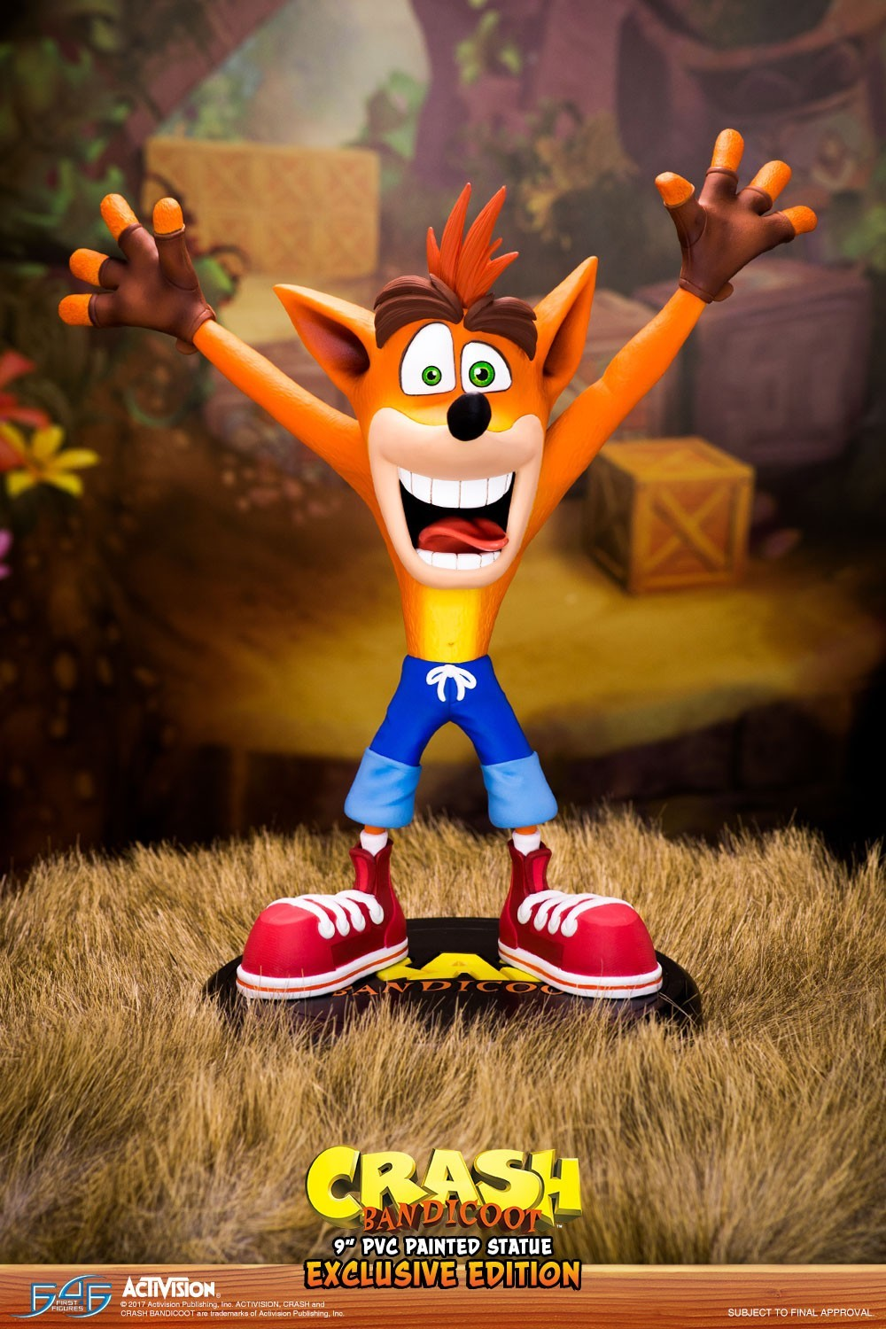 pictures of first 4 figures to release cool crash bandicoot statue 1 4