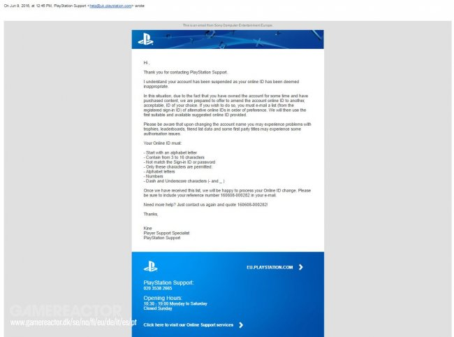 Player gets PSN ban because of suspicious nickname