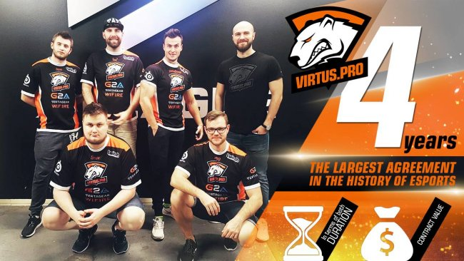 Virtus Pro's CS:GO roster sign contracts until 2020