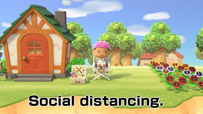 Fils-Aime promotes social distancing with Animal Crossing